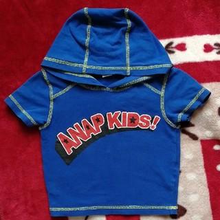 アナップキッズ(ANAP Kids)の90cm フード付きシャツ パーカー 半袖 ANAP KIDS Tシャツ 保育園(Tシャツ/カットソー)