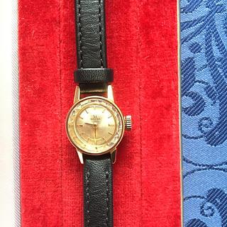 オメガ(OMEGA)のオメガGP20ミクロン手巻きレディースカットガラス(腕時計)