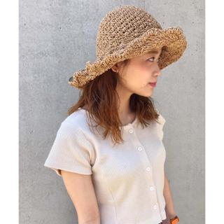 カスタネ(Kastane)のkastane ペーパーBIG HAT(麦わら帽子/ストローハット)