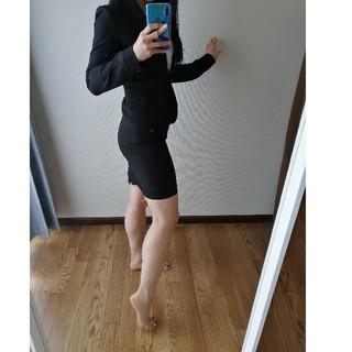 ザラ(ZARA)のビジネススーツ ブラック ジャケットとスカートセット 洗える ウォッシャブル(スーツ)