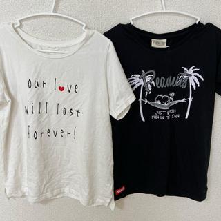 ピーナッツ(PEANUTS)のTシャツ2枚セット SNOOPYスヌーピー(Tシャツ(半袖/袖なし))