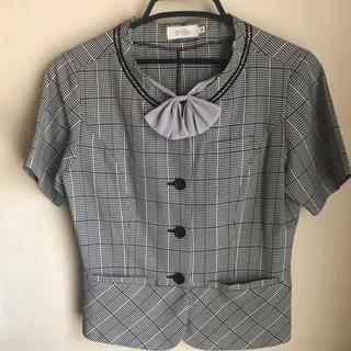エンジョイ(enjoi)の夏用 オーバーブラウス 事務服(シャツ/ブラウス(半袖/袖なし))