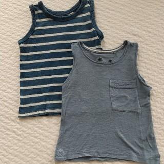 ザラ(ZARA)の男の子 zara  西松屋 ブルー タンクトップセット 110cm 120cm (Tシャツ/カットソー)