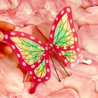 鬼滅の刃  栗花落カナヲ モチーフ 蝶の髪飾り ハンドメイド(小道具)