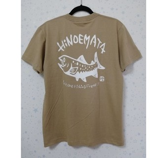 イワナTシャツ 綿 サンドカーキ(Tシャツ/カットソー(半袖/袖なし))