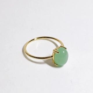 天然石リングSilver925 18KGP 指輪 グリーンアベンチュリン(リング(指輪))