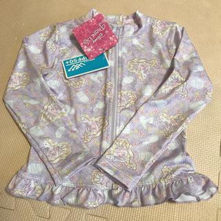 ディズニー(Disney)の110 ラッシュガード ラプンツェル 女の子 長袖 しまむら 水着 プリンセス(水着)