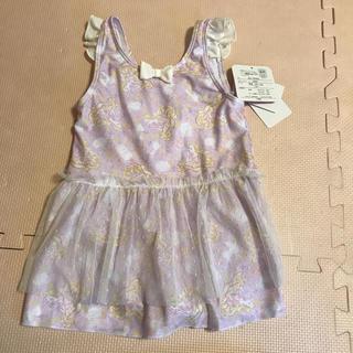 ディズニー(Disney)の130 ラプンツェル プリンセス 水着 女の子 ワンピース スカート付き(水着)