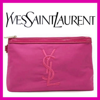 Saint Laurent - 【Yves Saint Laurent】限定ノベルティポーチ(PINK)