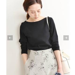 IENA - 【美品】AURALEE*IENA 別注ボートネックTシャツ ブラック サイズ36