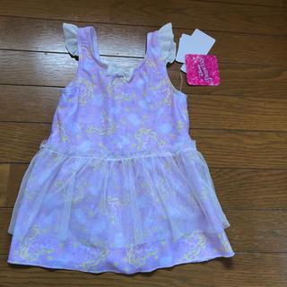 ディズニー(Disney)の120 ラプンツェル プリンセス しまむら 水着 女の子 ディズニー スカート(水着)