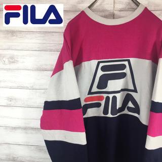 フィラ(FILA)のFILA フィラ トレーナー プルオーバー リブロゴ デカロゴ 送料無料(トレーナー/スウェット)