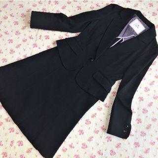 エフデ(ef-de)のエフデ スカートスーツ 7 W62 ストレッチ 黒 洗濯 OL ビジネス(スーツ)