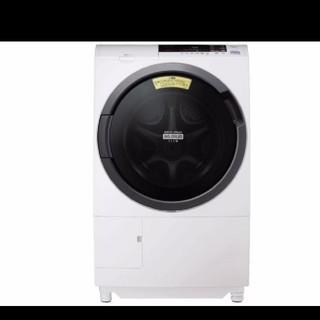 ヒタチ(日立)のドラム式洗濯機  稼働時間少ない 10キロ 2019年納品 風アイロン(洗濯機)