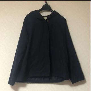 シマムラ(しまむら)のフード付きジャンパー 紺色(ブルゾン)