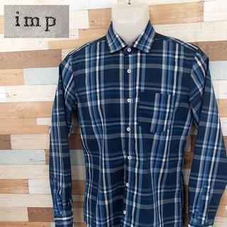 インプ(imp)の【imp】 美品 インプ ブルーチェック柄長袖シャツ サイズM(シャツ)