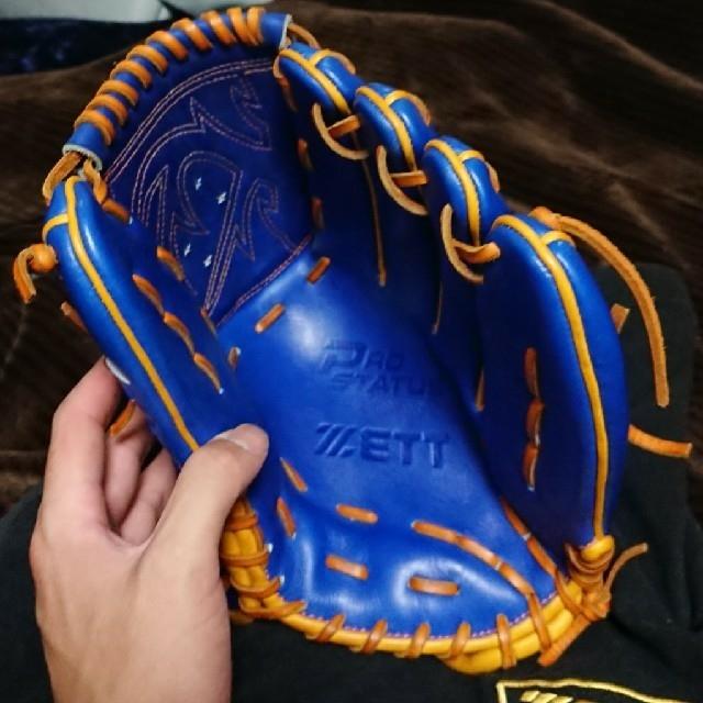 ZETT(ゼット)の【売り切り】ゼットプロステイタス 投手用軟式オーダー(藤浪選手ベース) スポーツ/アウトドアの野球(グローブ)の商品写真