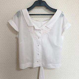 ウィルセレクション(WILLSELECTION)のウィルセレクション 刺繍リボン ブラウス(シャツ/ブラウス(半袖/袖なし))