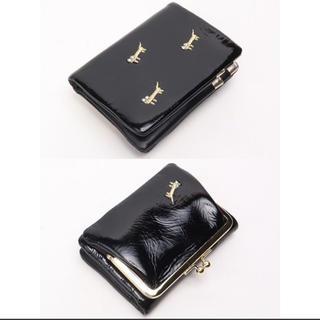 ツモリチサト(TSUMORI CHISATO)のネコネコししゅう がま口折財布(財布)