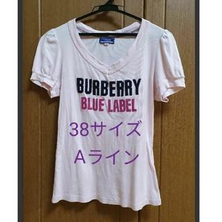 バーバリーブルーレーベル(BURBERRY BLUE LABEL)のBURBERRY 38サイズピンクTシャツ(Tシャツ(半袖/袖なし))