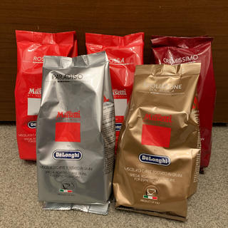 デロンギ(DeLonghi)のデロンギ コーヒー豆 5袋 250g×5(コーヒー)