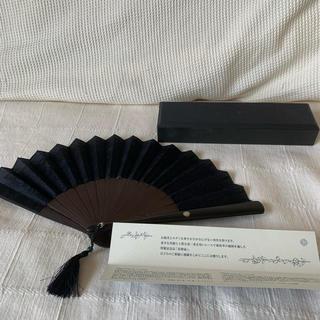シセイドウ(SHISEIDO (資生堂))の新品 資生堂 扇子 花椿 収納袋付き レース 竹(和装小物)