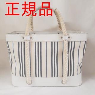 BURBERRY - 大幅値下げ【美品】バーバリー トートバッグ ホワイト ロープハンドル
