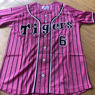 ハンシンタイガース(阪神タイガース)の阪神タイガース  金本 背番号6  ピンクユニフォーム(応援グッズ)