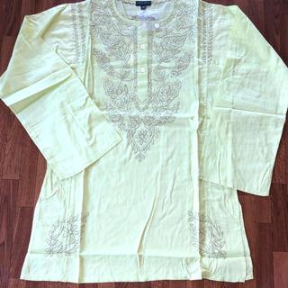 アンティックバティック(Antik batik)の涼しく可愛い!ANTIK BATIK刺繍 長袖カットソー M ライムグリーン(シャツ/ブラウス(長袖/七分))