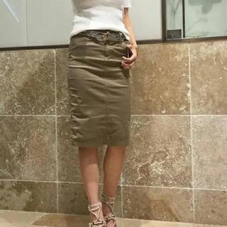 DEUXIEME CLASSE - ドゥージィーエムクラス 中古 セイヒンゾメタイトスカート 34 カーキ