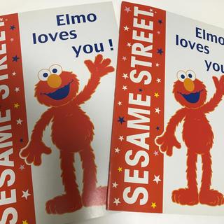 セサミストリート(SESAME STREET)のセサミストリート「エルモ」ノート2冊(ノート/メモ帳/ふせん)