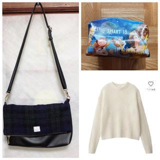 ジーユー(GU)のバッグ&ニット&ポーチ(セット/コーデ)