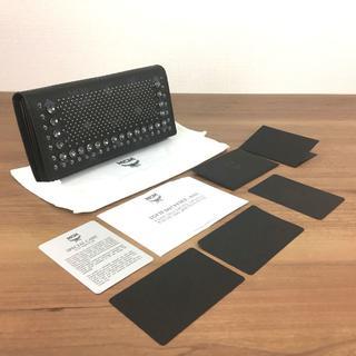 MCM - 未使用品 MCM 長財布 レザー ブラック スワロフスキー スタッズ 257