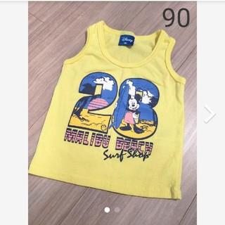 ディズニー(Disney)のディズニー 黄色 タンクトップ90(タンクトップ/キャミソール)