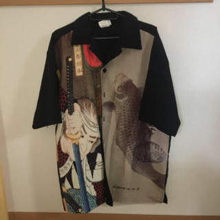 Yohji Yamamoto - 【夏物】浮世絵 オープンカラーシャツ