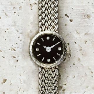 アガット(agete)の再値下げ アガット 4Pダイヤ腕時計ラウンドフェイス ジュエリーウォッチ(腕時計)