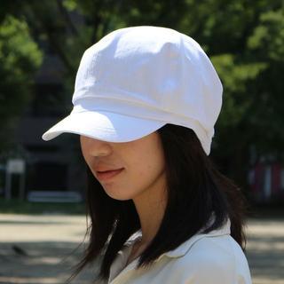 帽子 大きいサイズ ビッグ メンズ レディースキャスケット ラージ ホワイト(キャスケット)