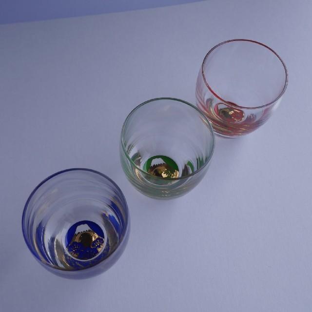 東洋佐々木ガラス(トウヨウササキガラス)の招福杯 富士見松竹梅三種セット インテリア/住まい/日用品のキッチン/食器(グラス/カップ)の商品写真