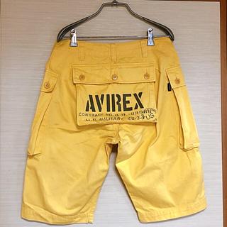 アヴィレックス(AVIREX)のAVIREX カーゴ ハーフパンツ イエロー(ワークパンツ/カーゴパンツ)