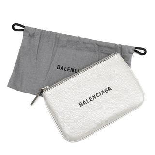 バレンシアガ(Balenciaga)のBALENCIAGA エブリデイXS ポーチ レザー シルバー  A2670(ポーチ)