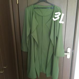 シマムラ(しまむら)の鮮やかグリーン コート カーディガン(ロングコート)