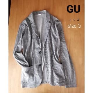 ジーユー(GU)のGU メンズジャケット テーラードジャケット ストライプ S(テーラードジャケット)
