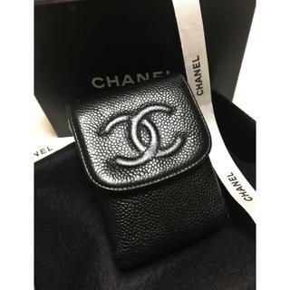 シャネル(CHANEL)のCHANEL シャネル シガレットケース/小物入れ  黒 ココマーク正規品 美品(その他)