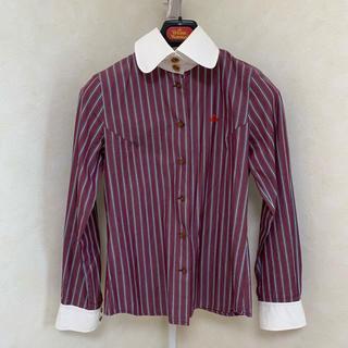 ヴィヴィアンウエストウッド(Vivienne Westwood)の高襟ストライプブラウス⭐︎ヴィヴィアンウエストウッド(シャツ/ブラウス(長袖/七分))