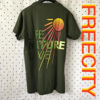 ハリウッドランチマーケット(HOLLYWOOD RANCH MARKET)のFREECITYフリーシティーUS限定SUNリミテッドデザインTシャツM(Tシャツ/カットソー(半袖/袖なし))