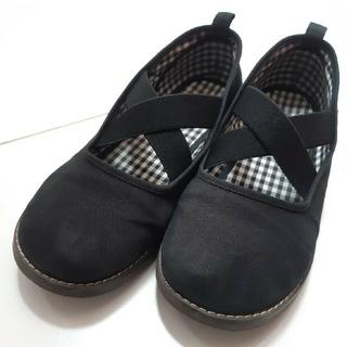 ファミリア(familiar)のfamiliar ファミリア 21cm 黒 靴 スリッポン シューズ 女の子(フォーマルシューズ)