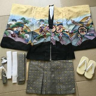七五三 男の子 五歳 羽織袴 セット 祝着 洗える(和服/着物)