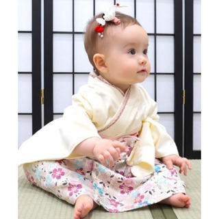 Sweet Mommy  袴ロンパース+髪飾りヘアバンドのセット☪︎⋆。˚
