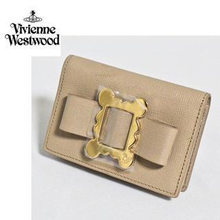 ヴィヴィアンウエストウッド(Vivienne Westwood)の《ヴィヴィアンウエストウッド》新品 リボン 小銭入れ コインケース ベージュ(コインケース)