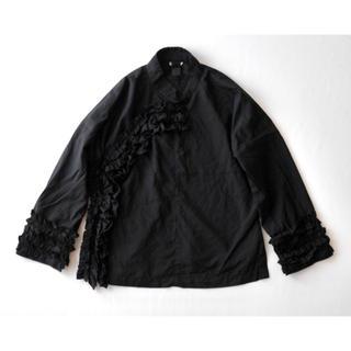 コムデギャルソン(COMME des GARCONS)のコムコム コムデギャルソン チャイナ ジャケット ブラウス 羽織り(ノーカラージャケット)